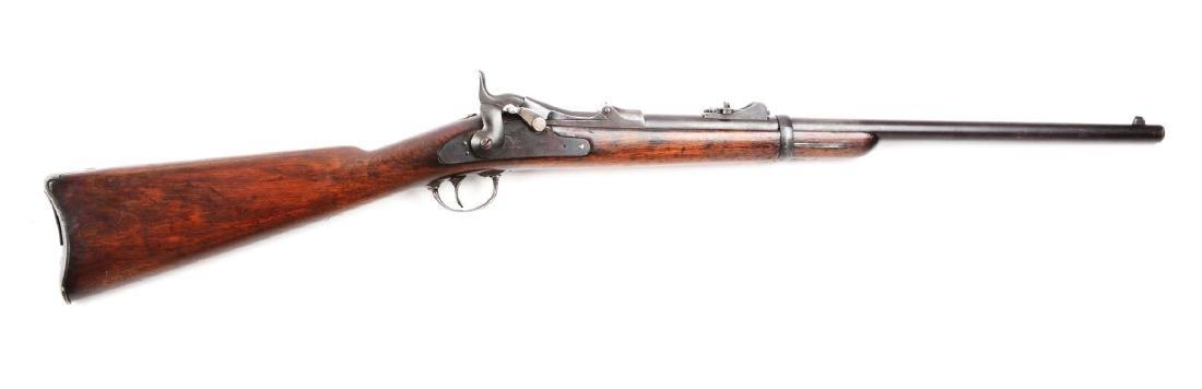 (A) U.S. Springfield Model 1873 Trapdoor Carbine.