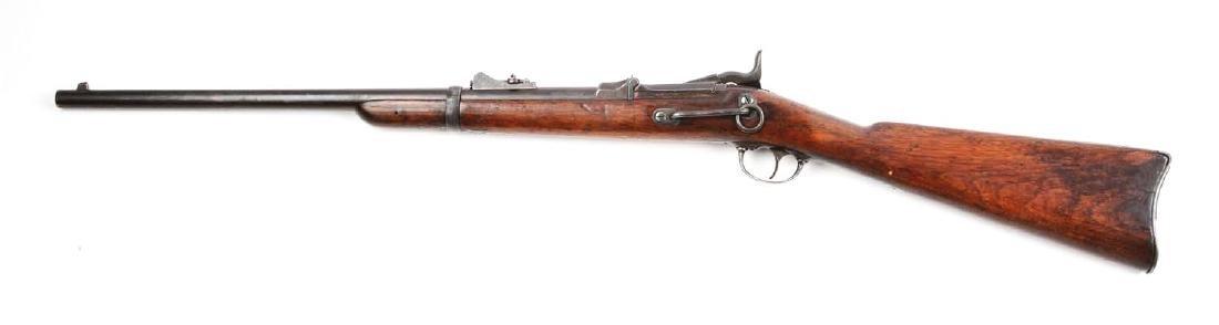 (A) U.S. Springfield Model 1873 Trapdoor Carbine. - 2