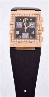 Omega 18k Ladies Rose Gold Diamond Set Quartz