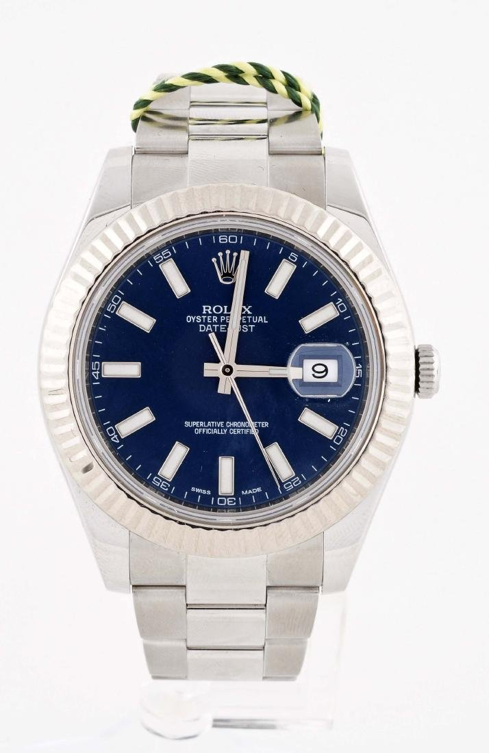 Rolex Datejust II with Blue Dial in Stainless Steel