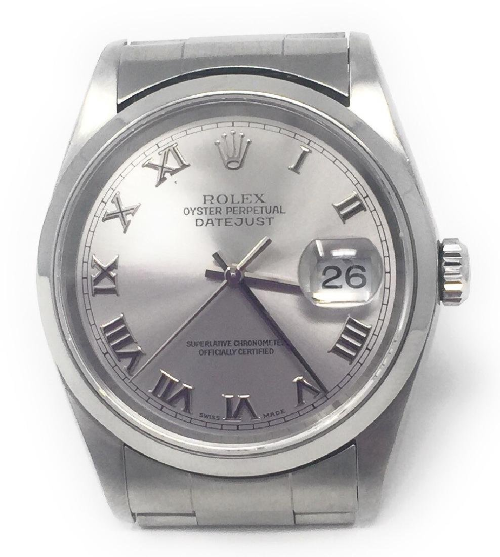 rolex stainless-steel datejust 16200