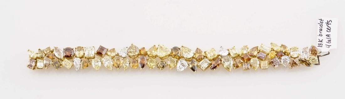 Colored Diamond Bracelet
