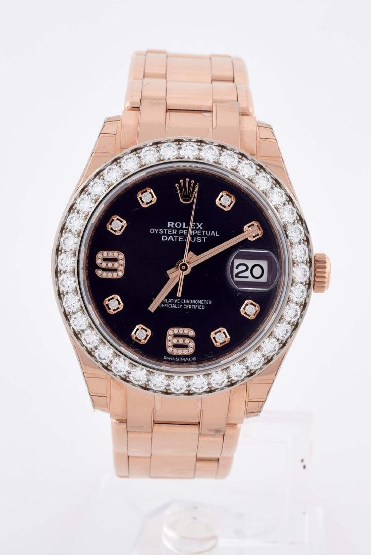 Rolex Pearlmaster Datejust with Factory Diamond Bezel