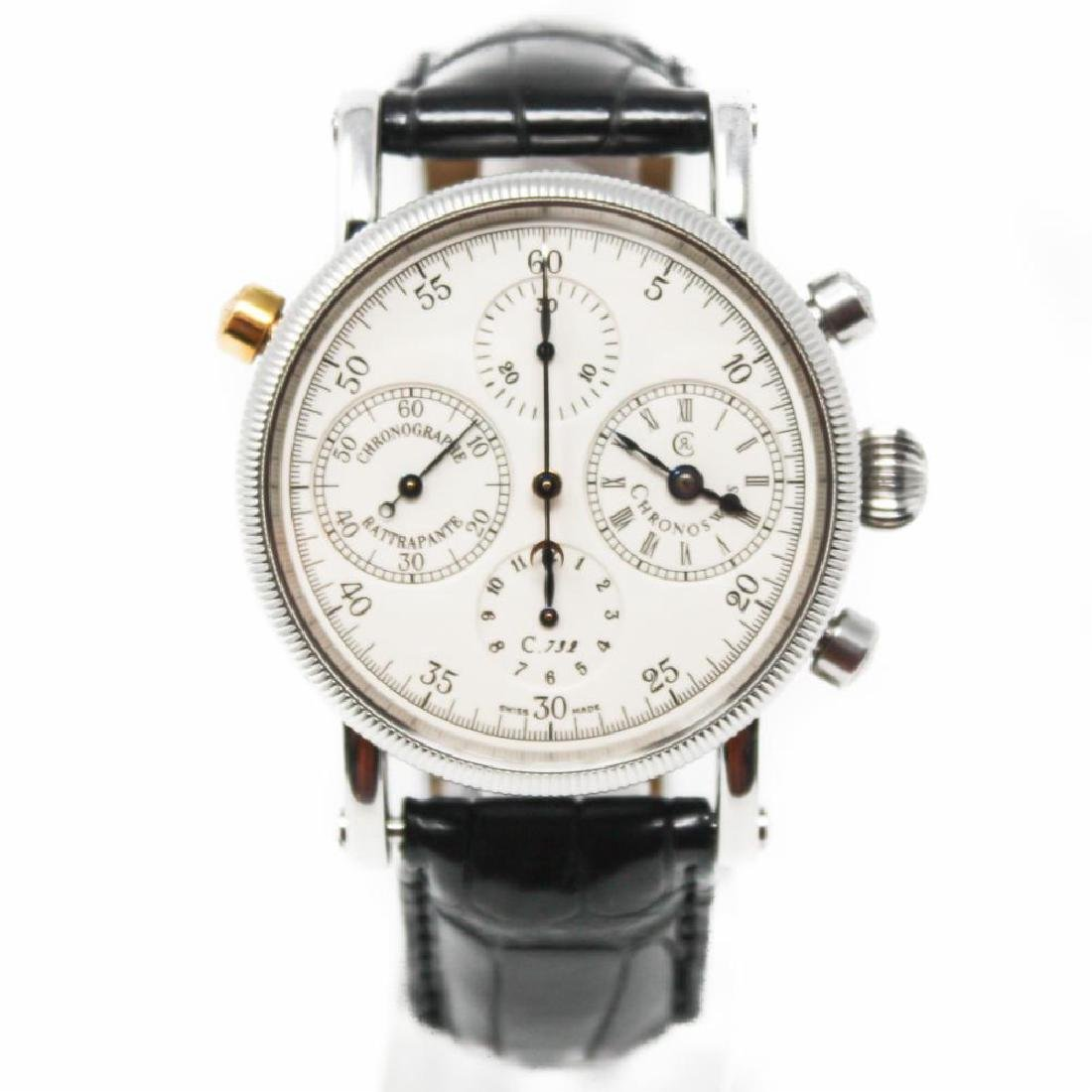 chronoswiss stainless-steel rattrapante ch7323