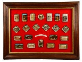 Framed Mauch Chunk, Pa Glass Paper Weights.