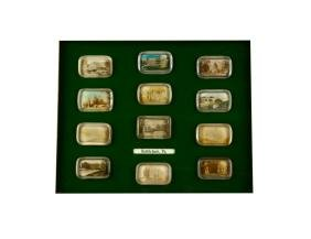 12 Glass Paper Weights From Bethlehem, Pa.