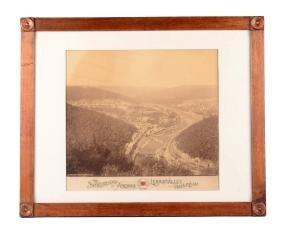 Photo Of Lehigh Valley Railroad & Mauch Chunk Pa.