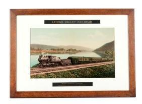Framed Lehigh Valley Railroad Photo.