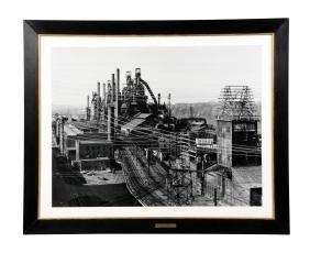 Large Black & White Photograph.