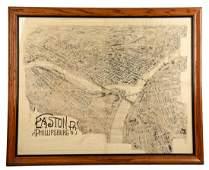 Easton, Pa & Phillipsburg, NJ Map.