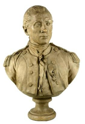 Plaster Bust Of John Paul Jones