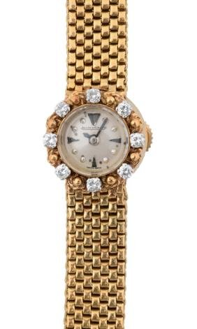 Jaeger Lecoultre 18k Ladies Yellow Gold Watch.