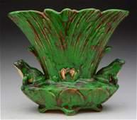 Weller Coppertone Frog Pillow Vase.