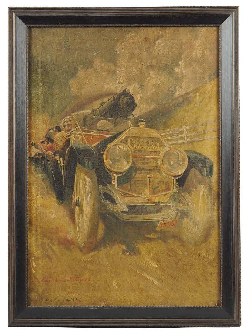 Oldsmobile Oilograph Framed Artwork.