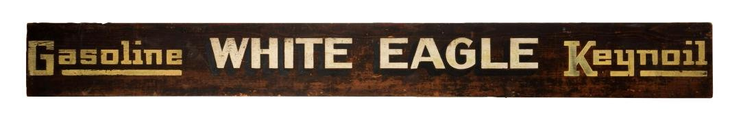 White Eagle & Keynoil Gasoline Wooden Service Station