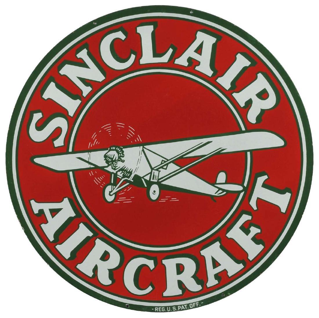 "Sinclair Aircraft w/ Airplane Graphic 48"" Porcelain"