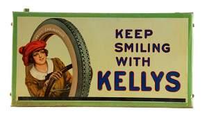 Kelly Tires w/ Lotta Miles Graphic Tin Litho Tire