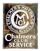 Chalmers Club Service Porcelain Sign