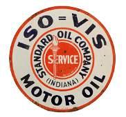 Standard ISOVIS Motor Oil Porcelain Sign