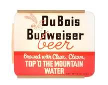 DuBois Budweiser Beer Reverse Glass Light Up Sign.
