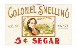 Colonel Snelling 5 Cigar Cardboard Sign