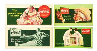 Lot Of 4 CocaCola Blotters
