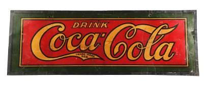 Large Cardboard Coca-Cola Sign.