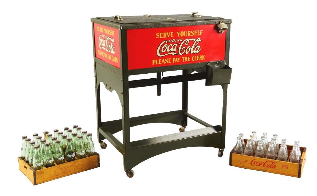Coca-Cola Double Glasscock Salesman Sample Cooler.