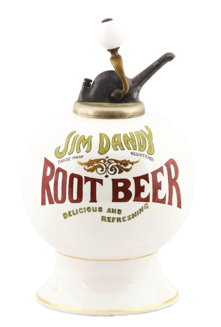 Jim Dandy Root Beer Syrup Dispenser.