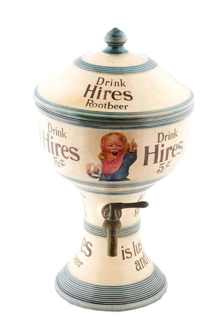 Early Two Piece Hires Ugly Boy Urn Syrup Dispenser.