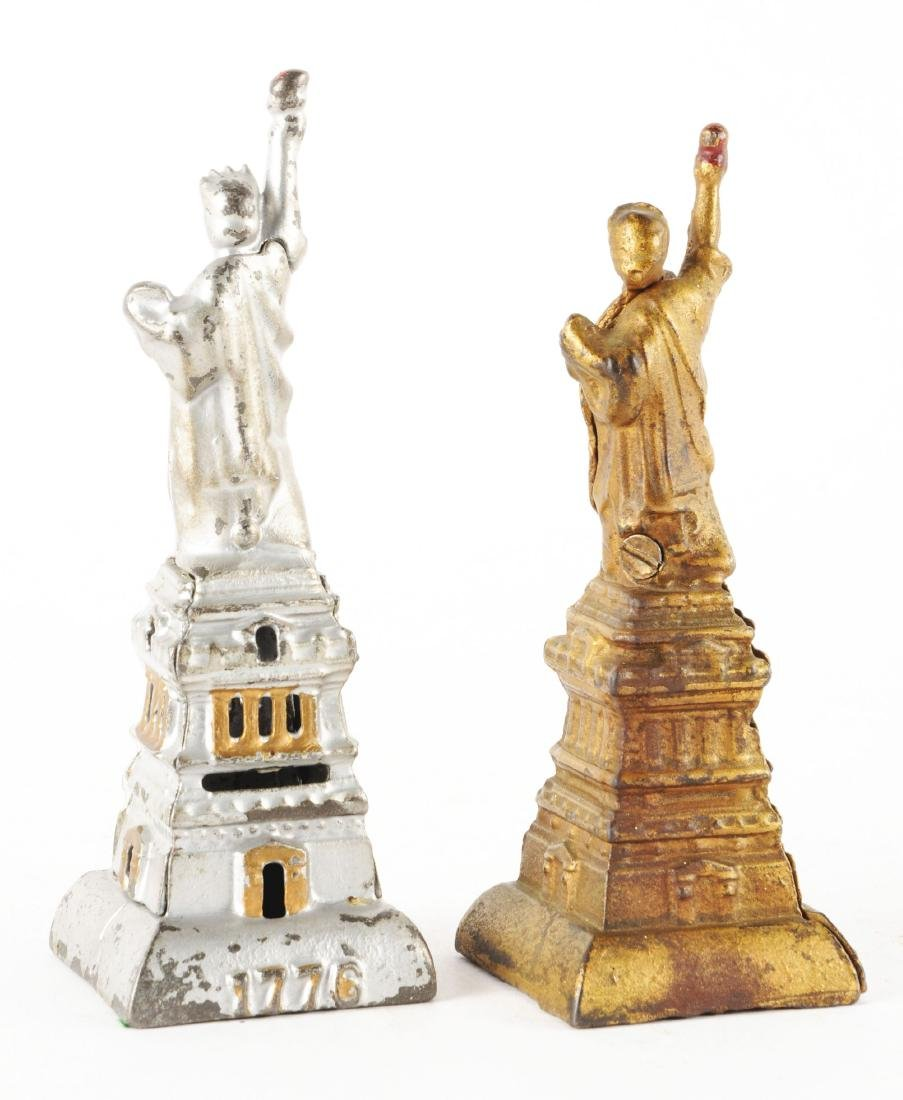Lot of 2: Statue of Liberty Still Banks. - 2