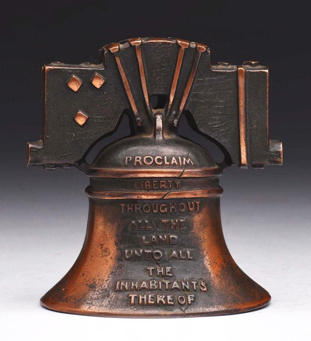 J.M. Harper Cast Iron Liberty Bell Still Bank.