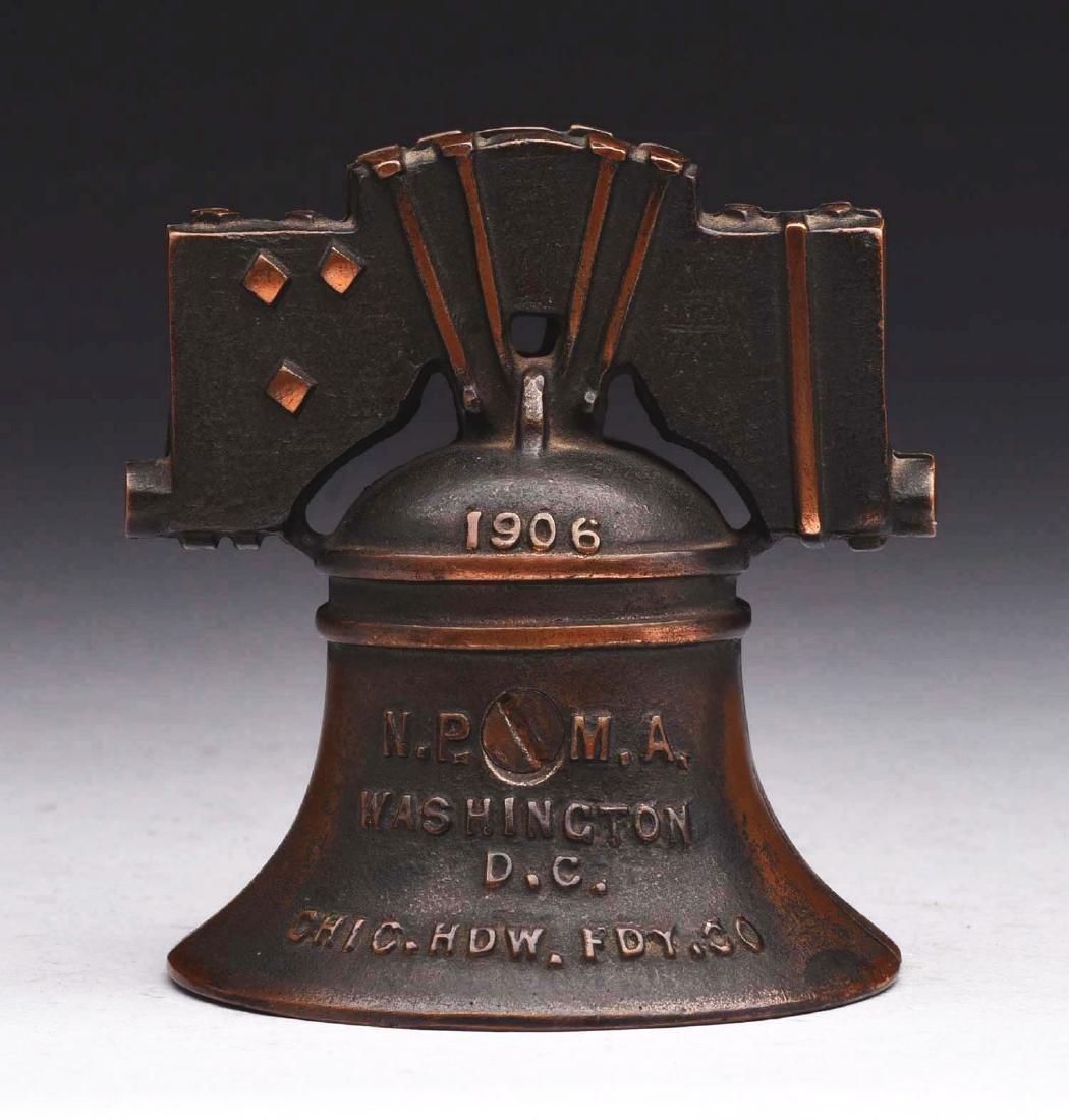 J.M. Harper Cast Iron Liberty Bell Still Bank. - 2