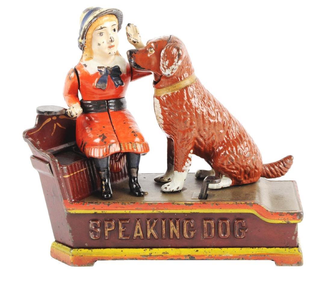 Shepard Hardware Speaking Dog Cast Iron Mechanical