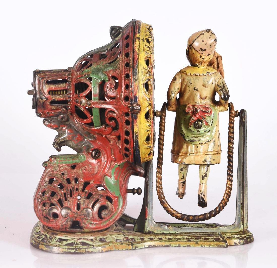 J.&E. Stevens Girl Skipping Rope Cast Iron Mechanical - 2