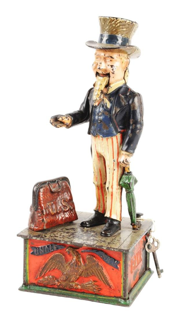Shepard Hardware Uncle Sam Cast Iron Mechanical Bank.