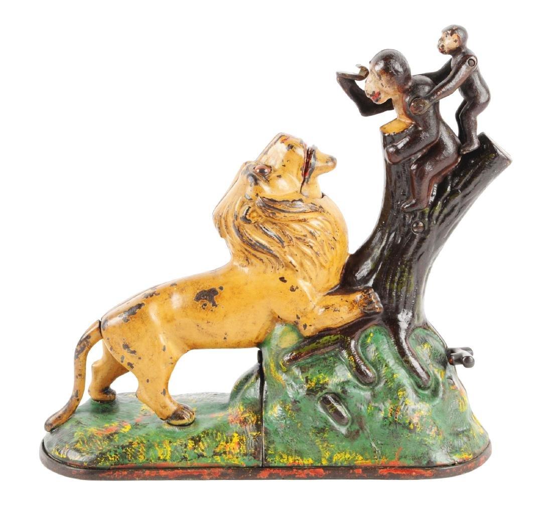 Kyser & Rex Lion & Two Monkeys Cast Iron Mechanical