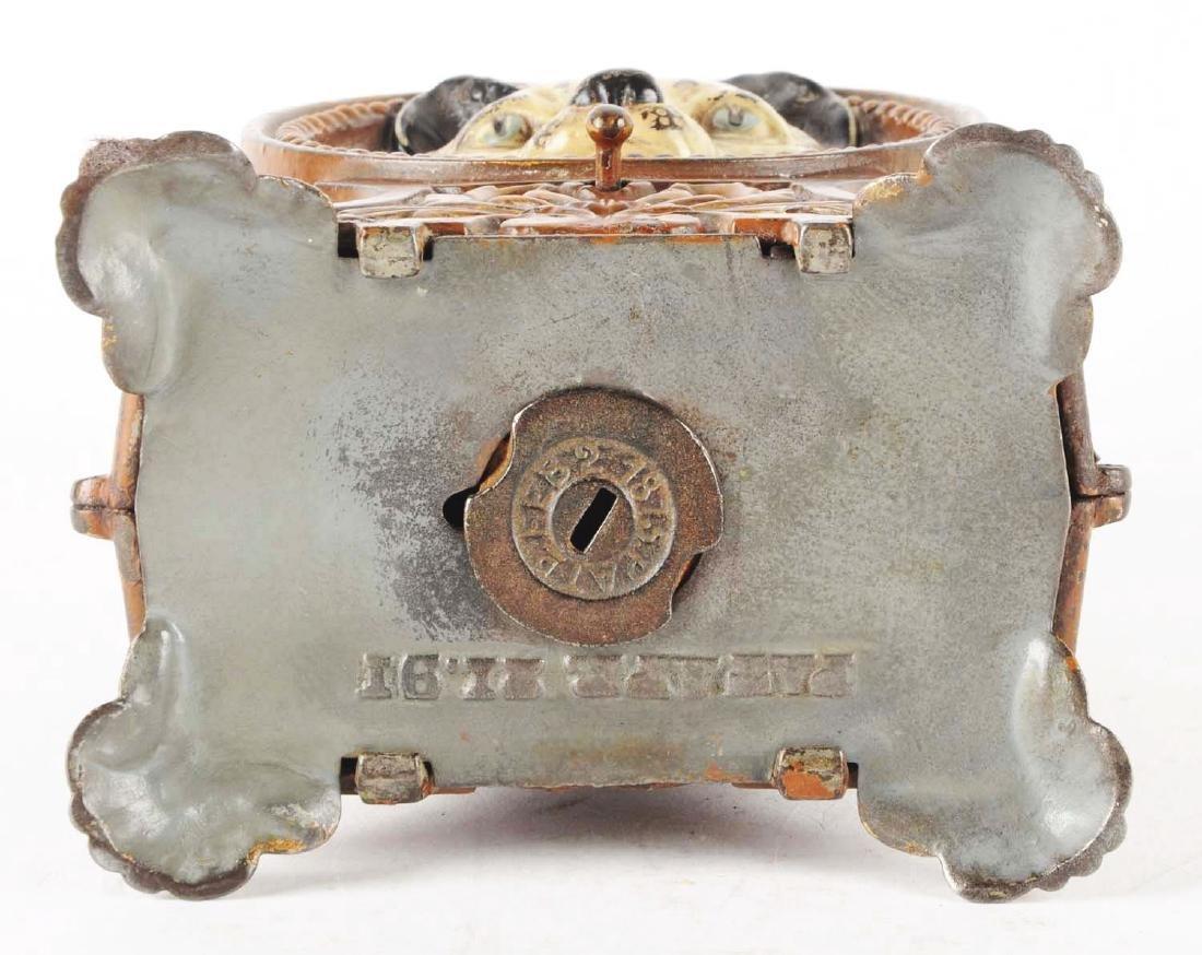 J. & E. Stevens Cat & Mouse Cast Iron Mechanical Bank. - 4