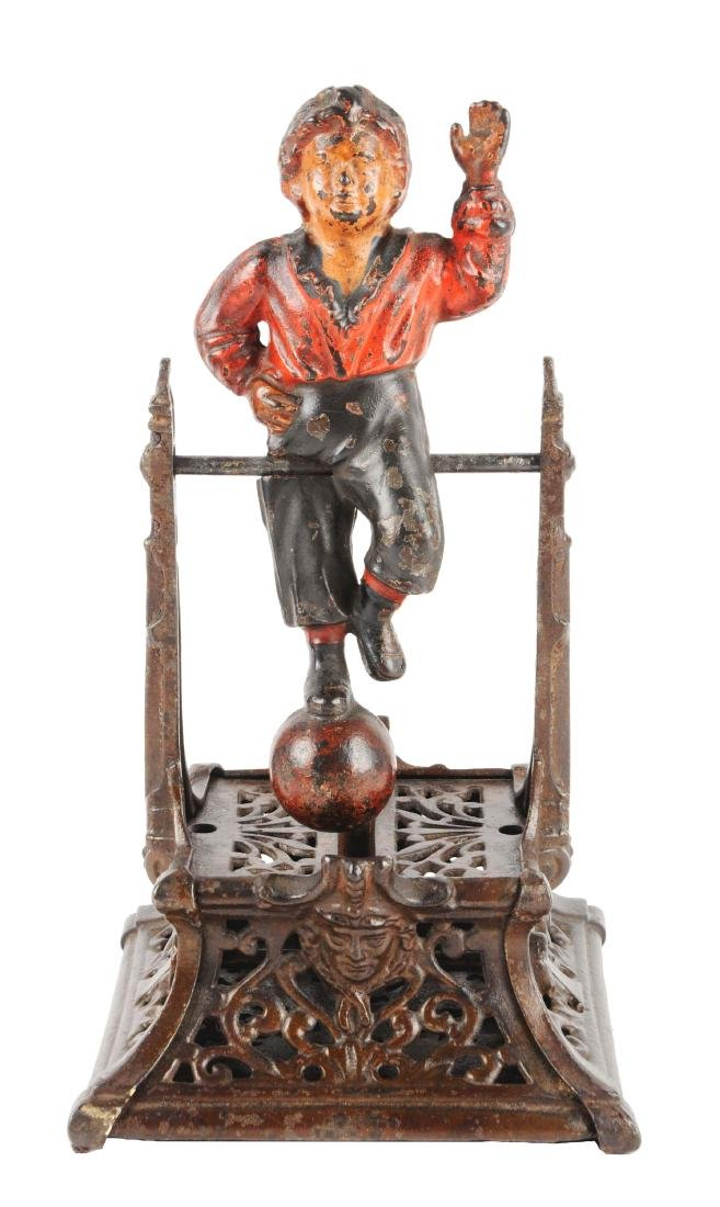 J. Barton Smith Boy on Trapeze Cast Iron Mechanical