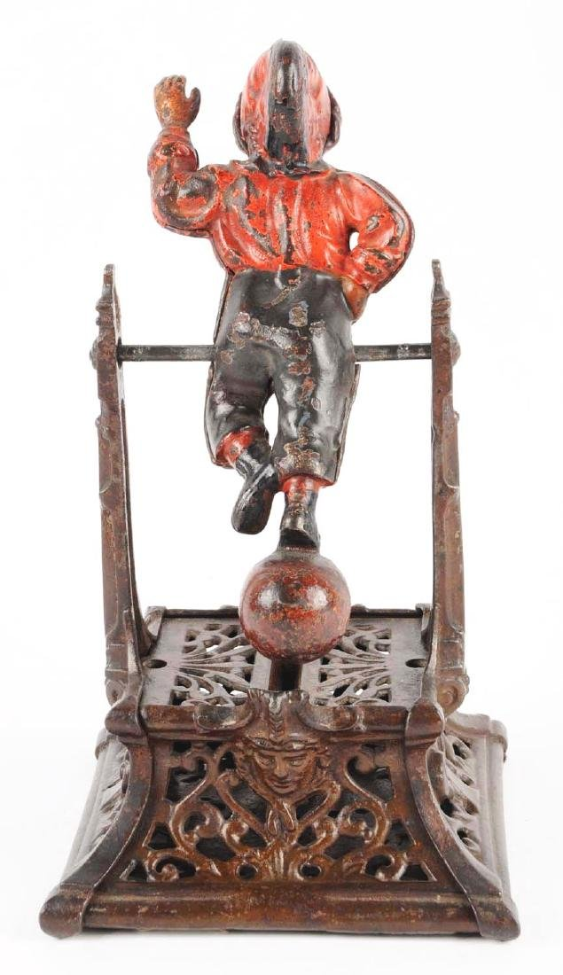J. Barton Smith Boy on Trapeze Cast Iron Mechanical - 2