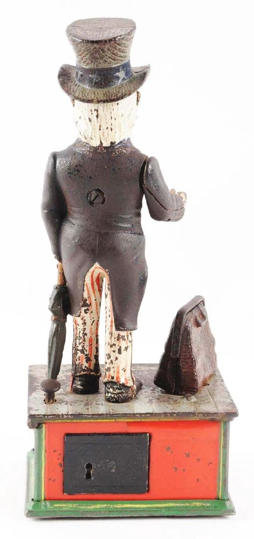 Shepard Hardware Uncle Sam Cast Iron Mechanical Bank. - 3