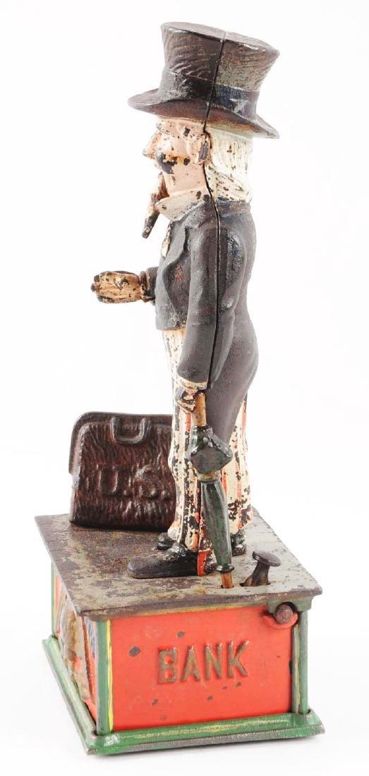 Shepard Hardware Uncle Sam Cast Iron Mechanical Bank. - 4