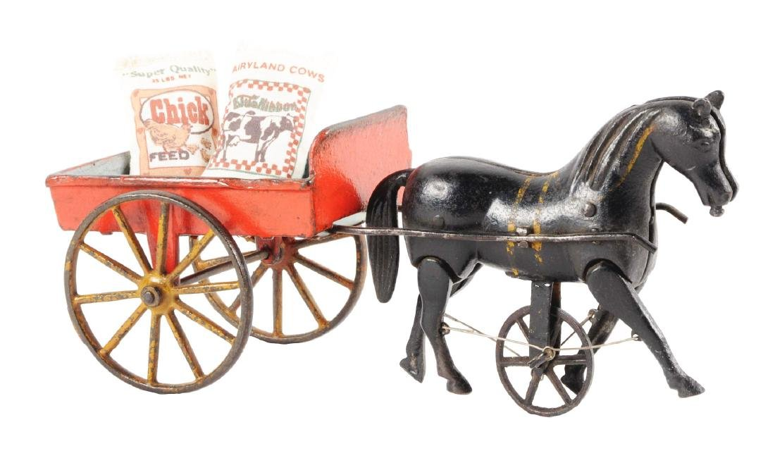 Ives Victor Cart w/ Walking Horse.