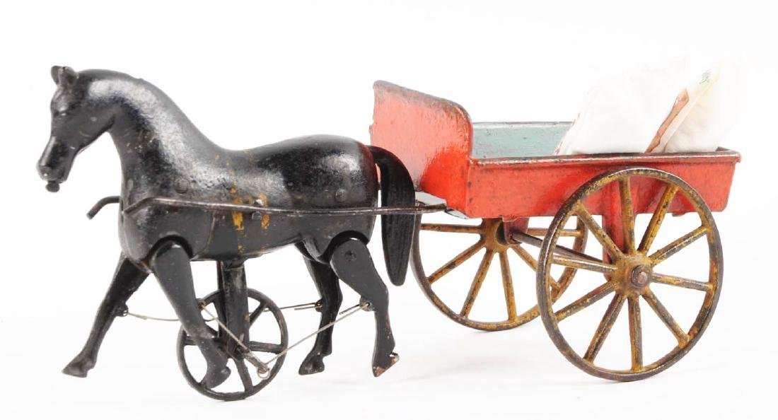 Ives Victor Cart w/ Walking Horse. - 2