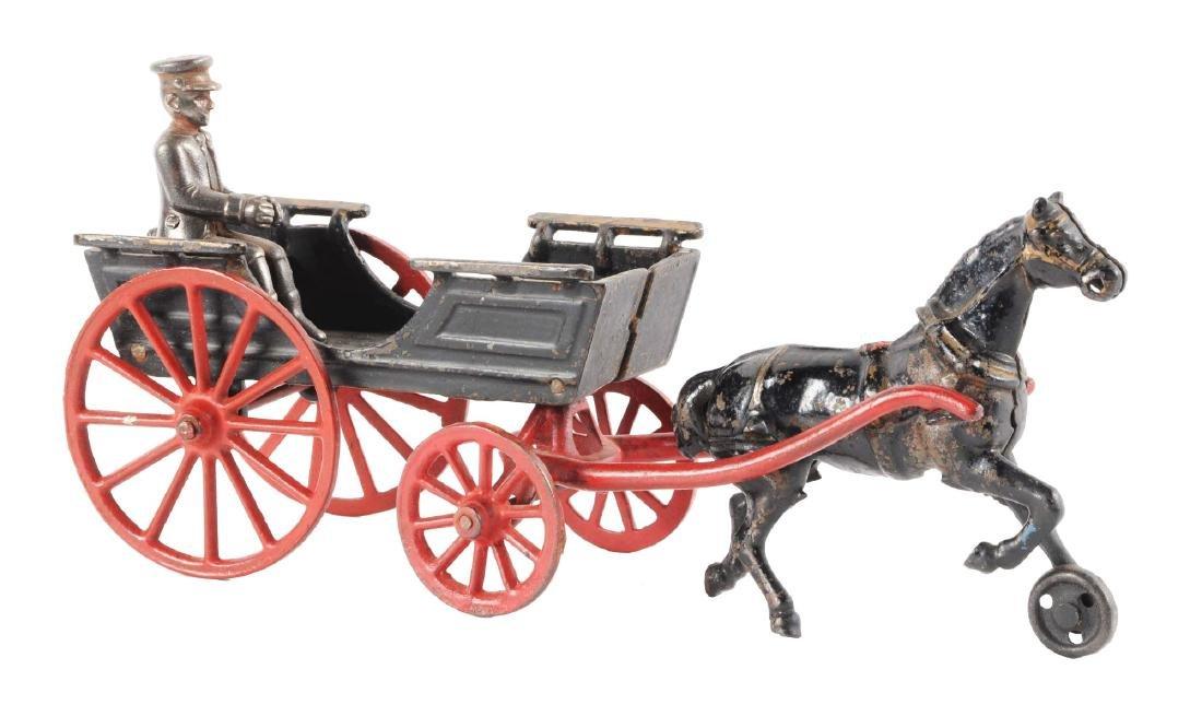 Cast Iron Horse Drawn Conestoga Wagon.