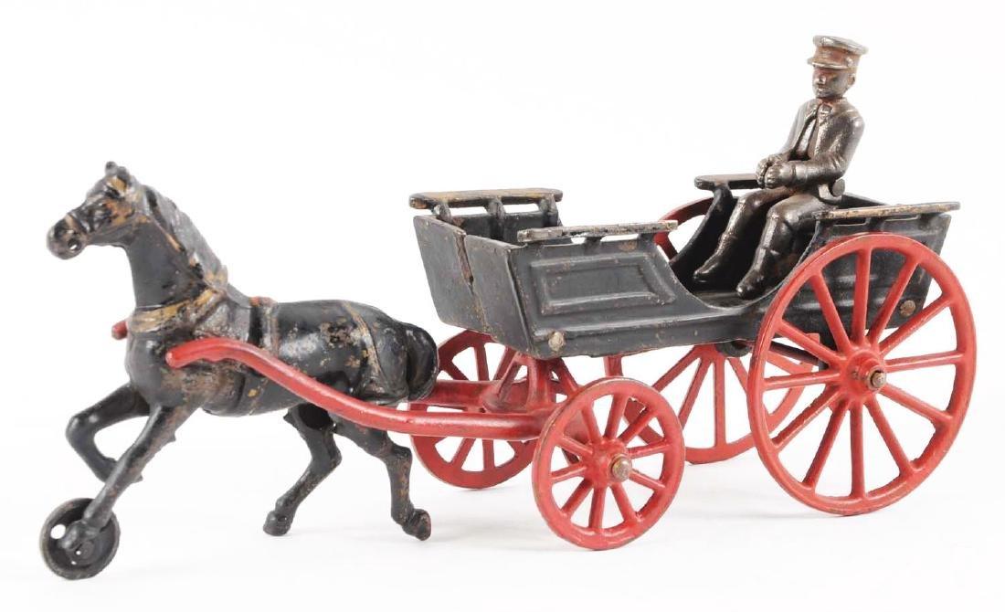 Cast Iron Horse Drawn Conestoga Wagon. - 2