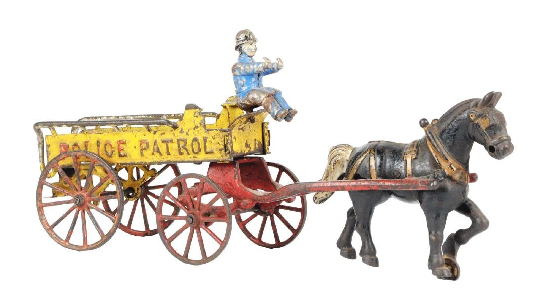 Cast Iron Horse Drawn Police Patrol.