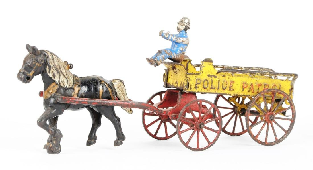 Cast Iron Horse Drawn Police Patrol. - 2