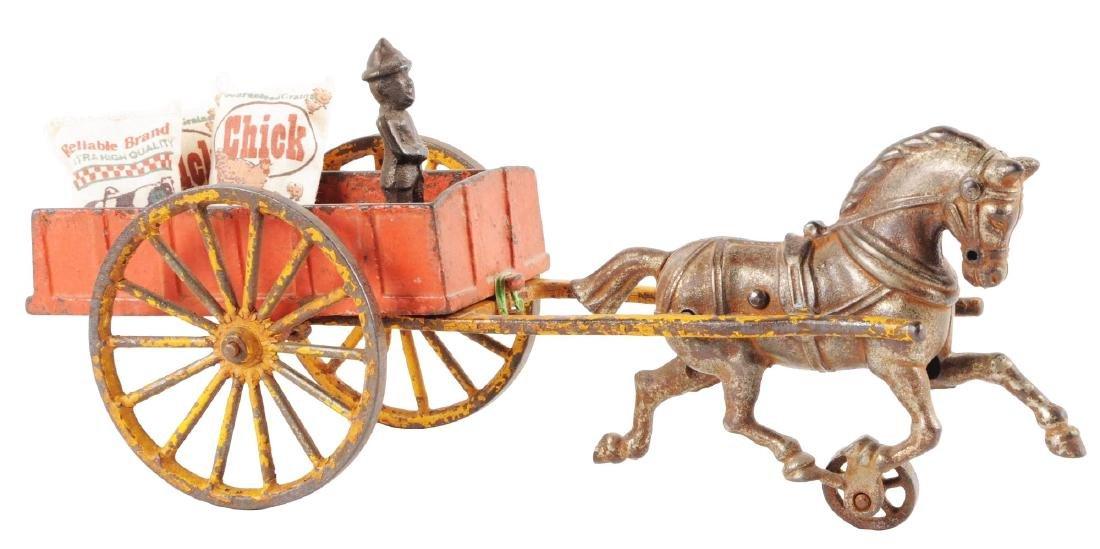 Hubley Cast Iron Farm Wagon.