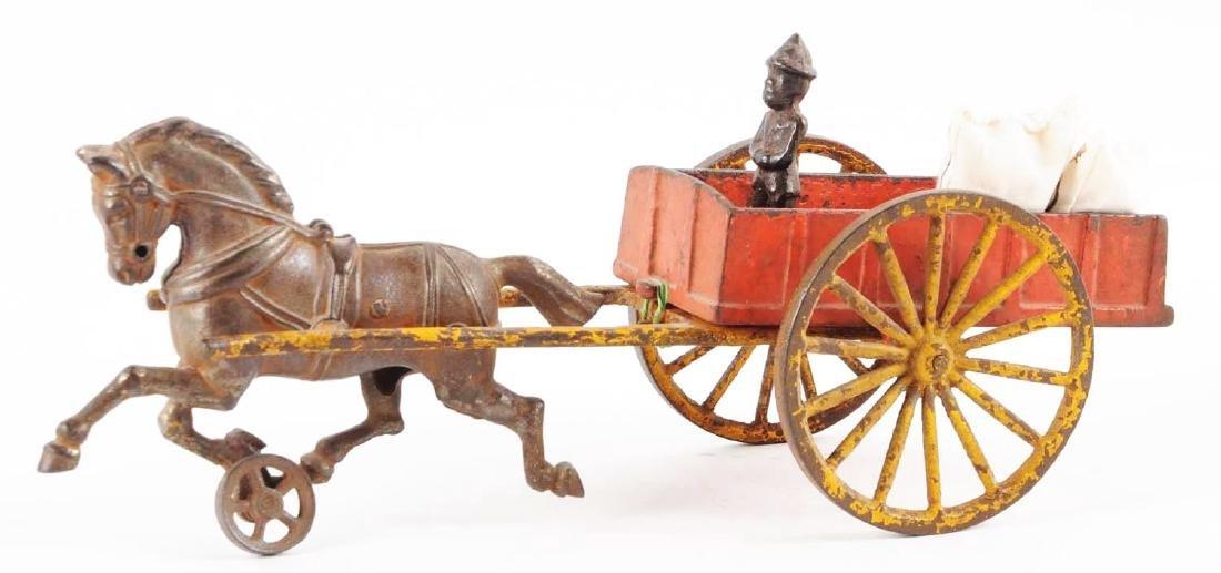 Hubley Cast Iron Farm Wagon. - 2